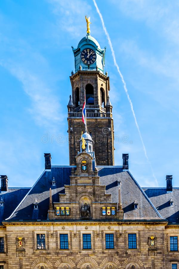 The historic city hall in the center of Rotterdam, the Netherlands royalty free stock image