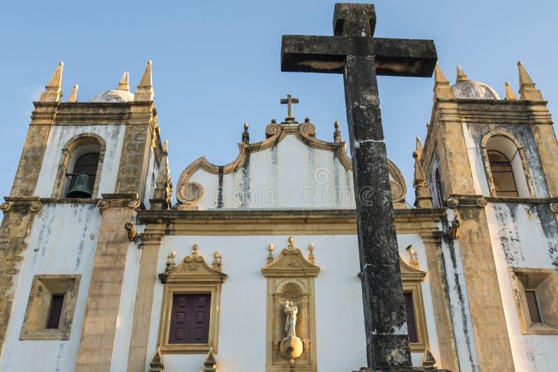 Olinda in Pernambuco, Brazil. The historic city of Olinda in Pernambuco, Brazil at sunset stock photography