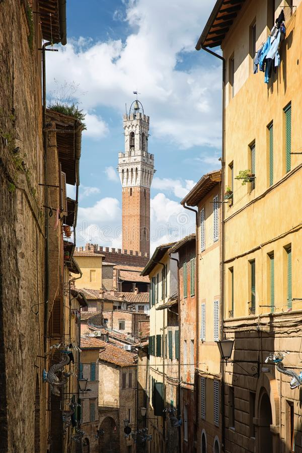 The historic city of Siena in Tuscany royalty free stock images