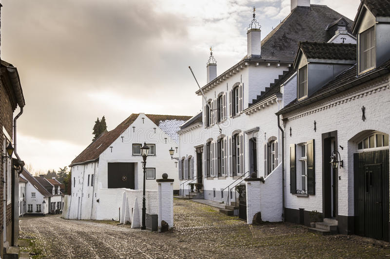 Historic city of Thorn known for its white houses royalty free stock images