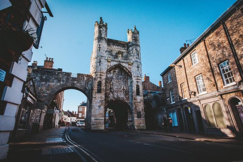 Gilly Gate in York stock photo
