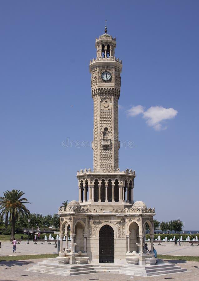 Historic clocktower in Konak Square, Izmir stock photography