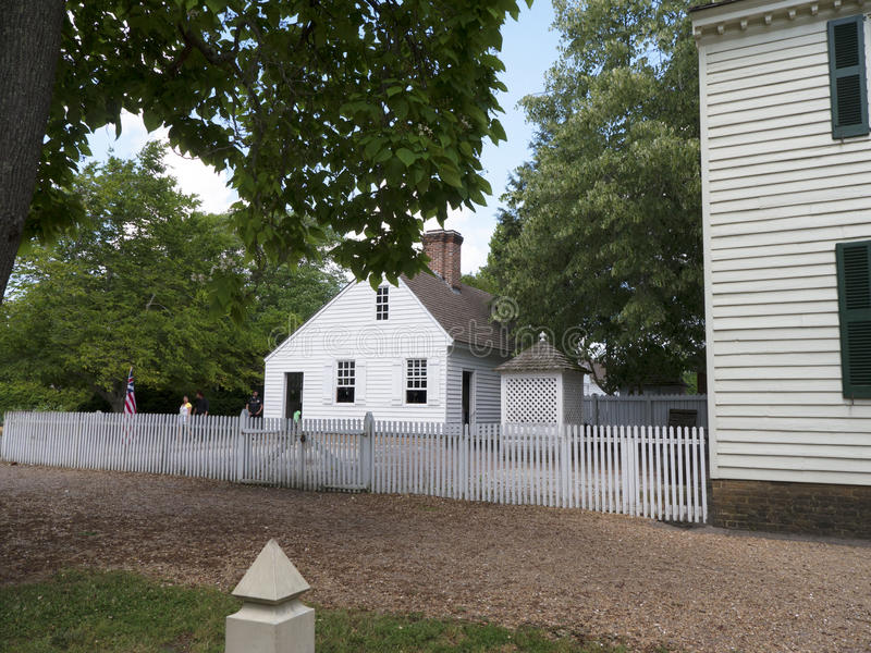 Historic Colonial Williamsburg where the earliest European settlers established their first colony in Virginia USA. Williamsburg was founded in 1632 as Middle royalty free stock photos