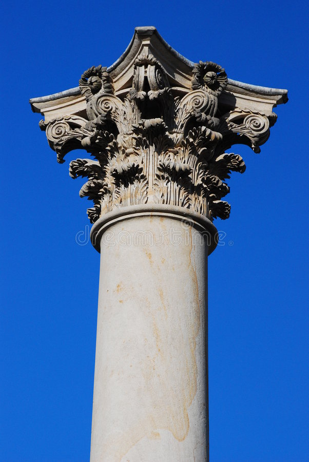 Historic Column and Capital royalty free stock photos