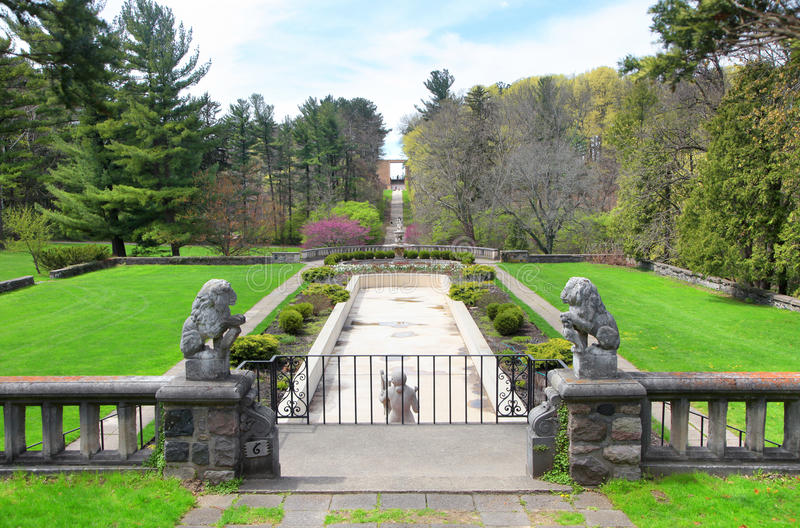 Historic Cranbrook house . Scenic gardens at historic Cranbrook house stock photography