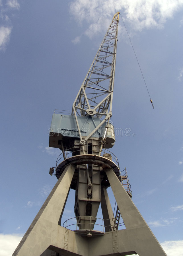 Historic crane 3 royalty free stock image