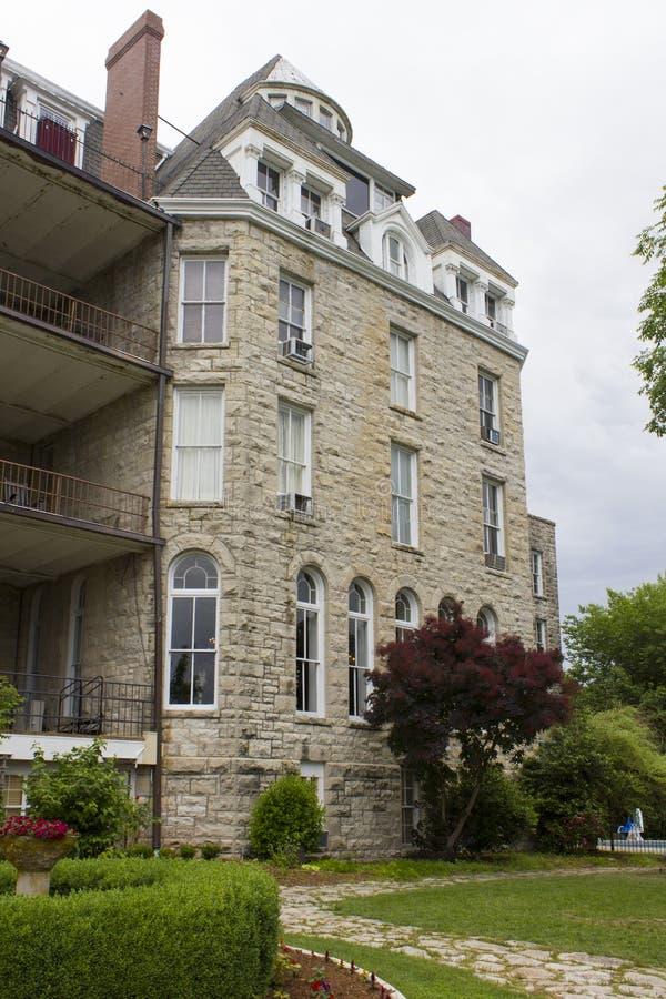 Historic 1886 Cresent Hotel Eureka Springs, Akansas royalty free stock image