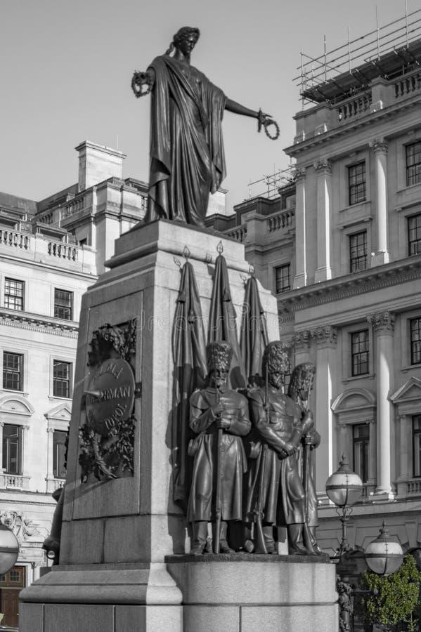 Historic crimean war memorial at waterloo in london. At pall mall stock photography