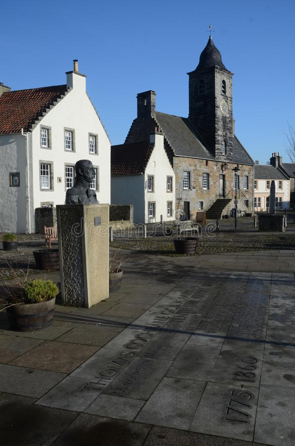 Historic Culross. An external view of a historic building in the royal burgh of Culross royalty free stock photo