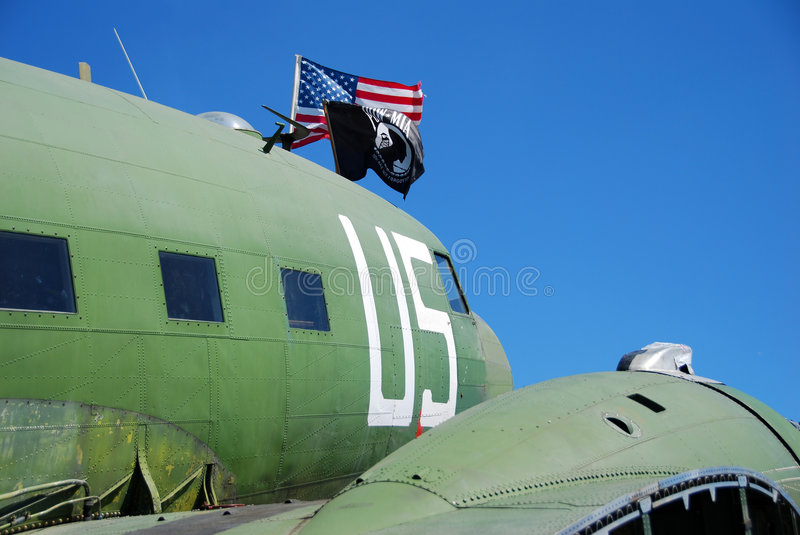 Historic DC-3 airplane stock images