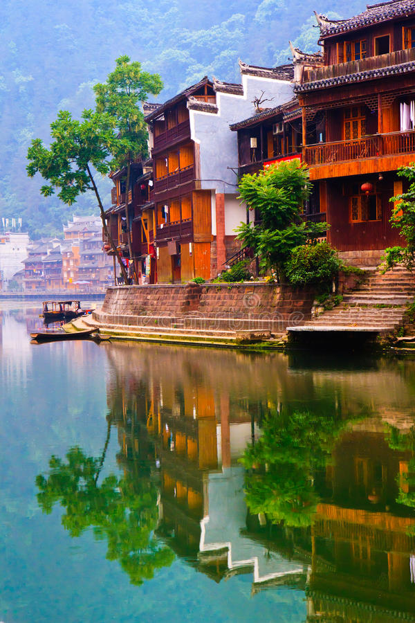 Download Historic Diaojiao House In Fenghuang, China Stock Image - Image of culture, majestic: 21088881