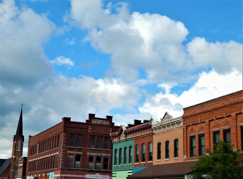 Historic District of Pontiac Illinois stock photos