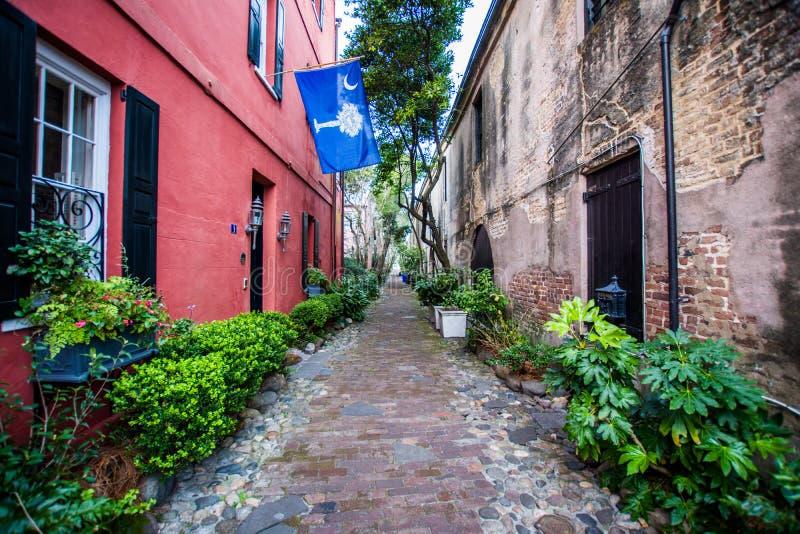 Historic Downtown Charleston South Carolina on a Warm Day.  royalty free stock photography