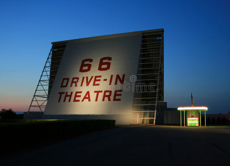 Historic drive-in theater royalty free stock photography