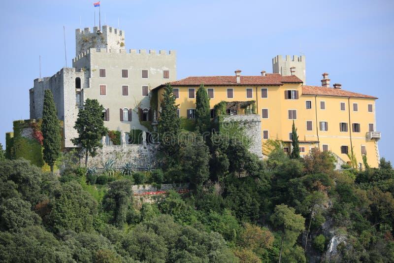 Historic Duino Castle in Italy royalty free stock photo
