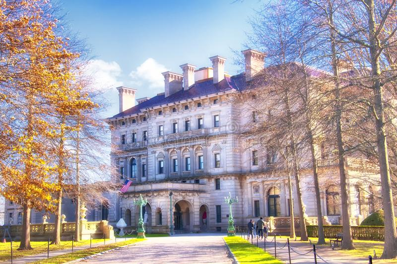THe breakers mansion exterior Newport stock photos