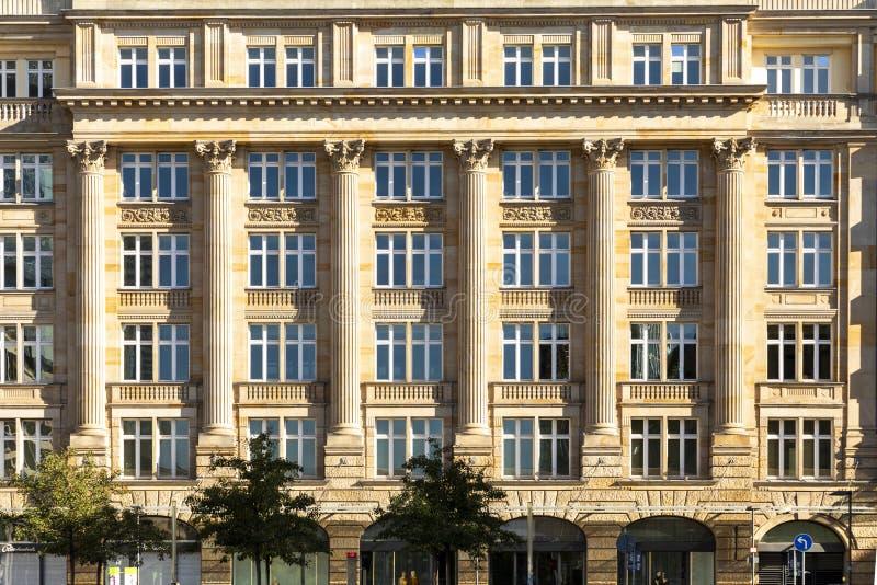 Historic facade in Frankfurt stock image