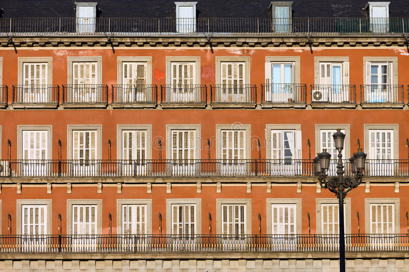 Download Historic Facade At Plaza Mayor In Madrid Royalty Free Stock Images - Image: 24856949