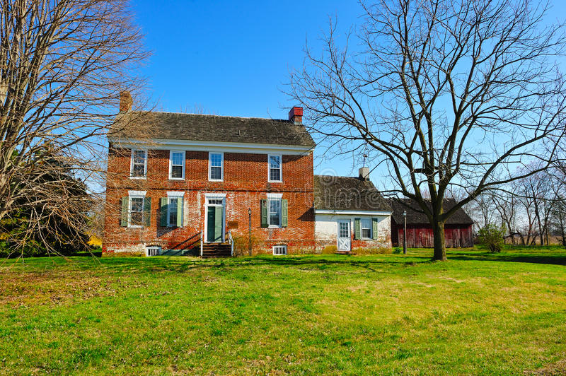 Historic Farm House. Historic 18th Century Farm House located in Delaware. Built 1750 stock image
