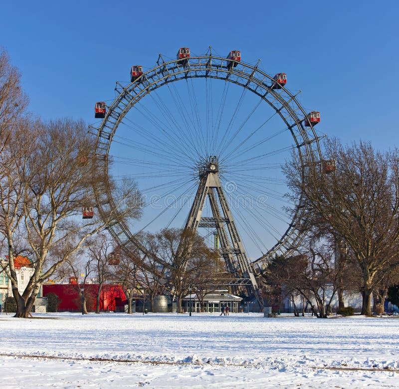 Historic ferris wheel of Vienna stock image