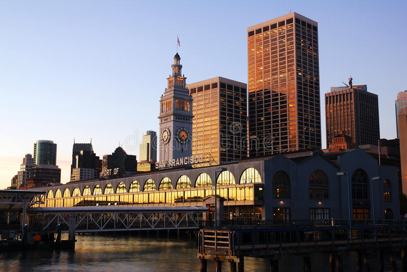 The Historic Ferry Building in San Francisco stock image