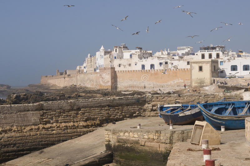 Download Historic Fishing Port stock image. Image of seabird, walled - 15581643