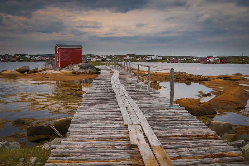 Historic fishing stages royalty free stock image