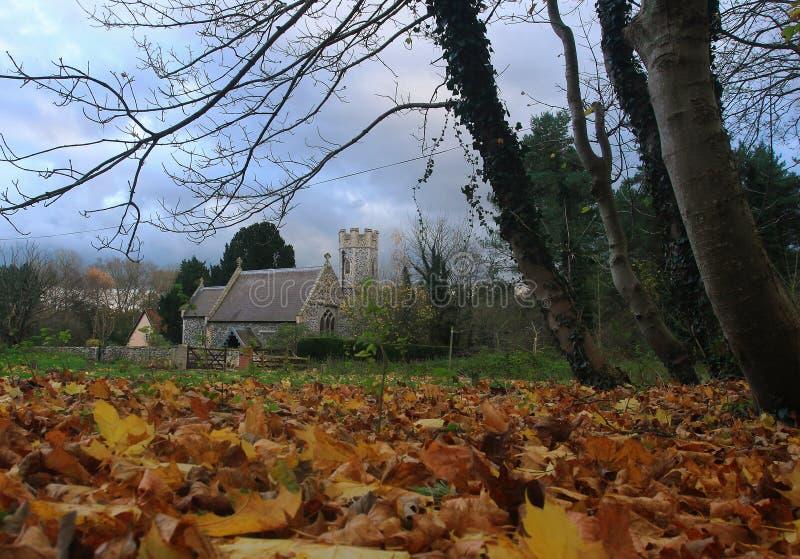 A historic flint church. This splendid quaint flint stone churches are synonymous with the Norfolk countryside royalty free stock photos