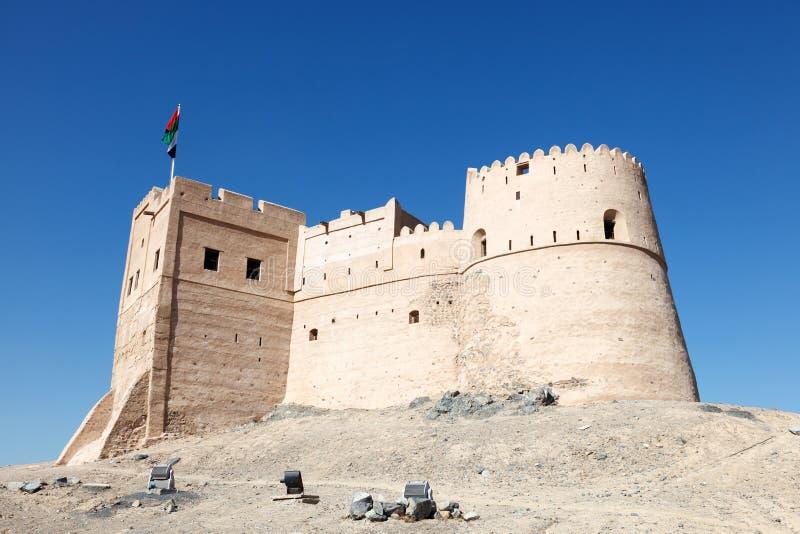 Historic fort in Fujairah royalty free stock image