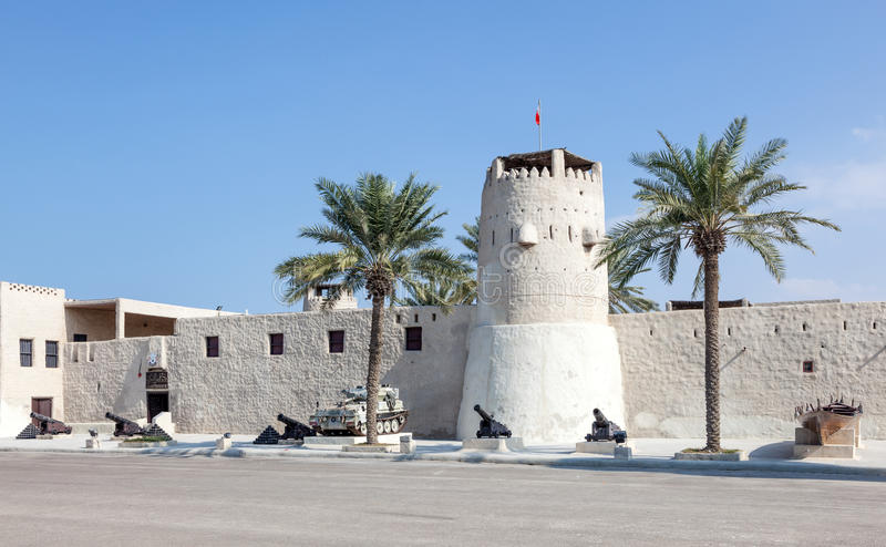 Historic fort and museum in Umm Al Quwain royalty free stock image