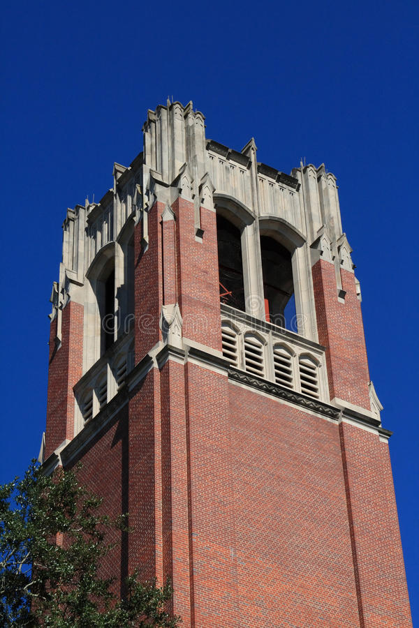 Historic Gainesville Florida Carillon. Historic brick carillon located in Gainesville Florida stock photos