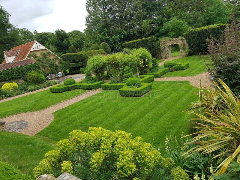 Historic gardens toft manor stock photo