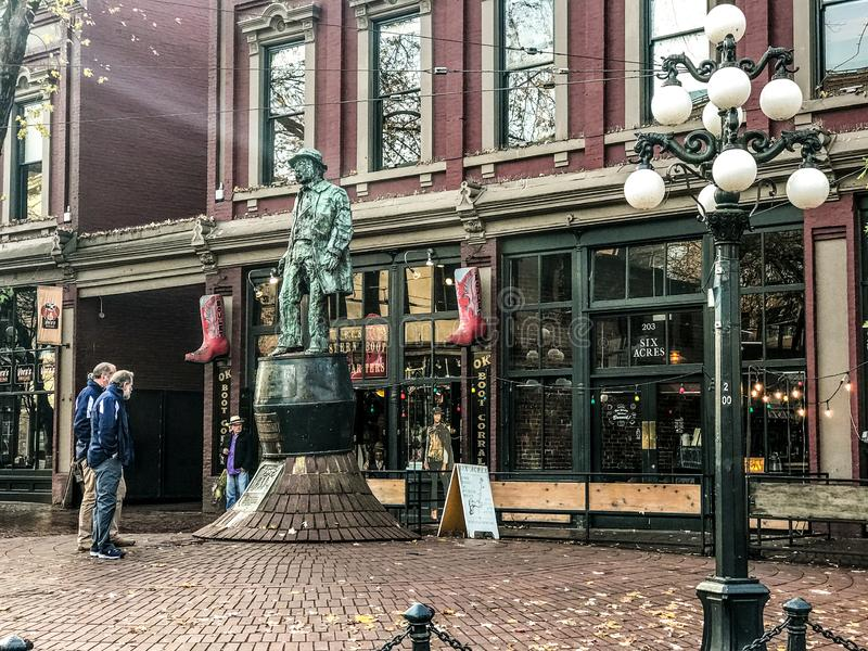 Historic Gastown, Vancouver, British Columbia. Historic Gastown located in downtown Vancouver, British Columbia royalty free stock photo