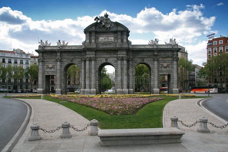 Historic gate - Puerta de Alcala - Madrid - Spain royalty free stock photo
