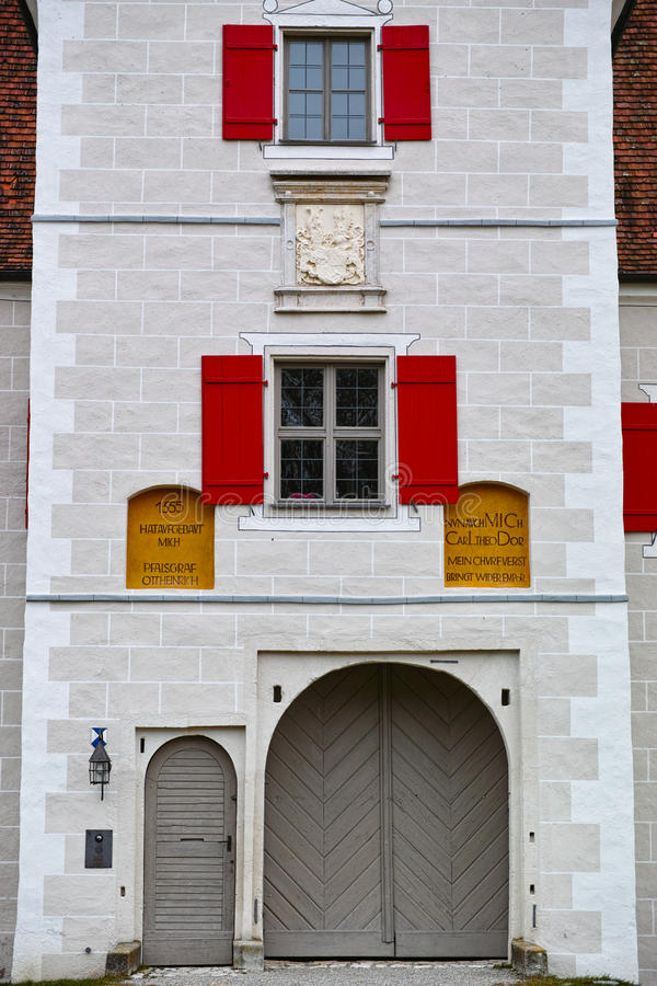 Free Historic Gate Tower Facade, Front Door And Windows With Shutter Stock Photo - 55975830