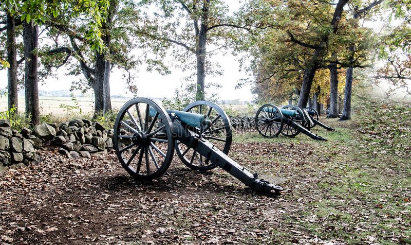 American civil war Cannon royalty free stock photos