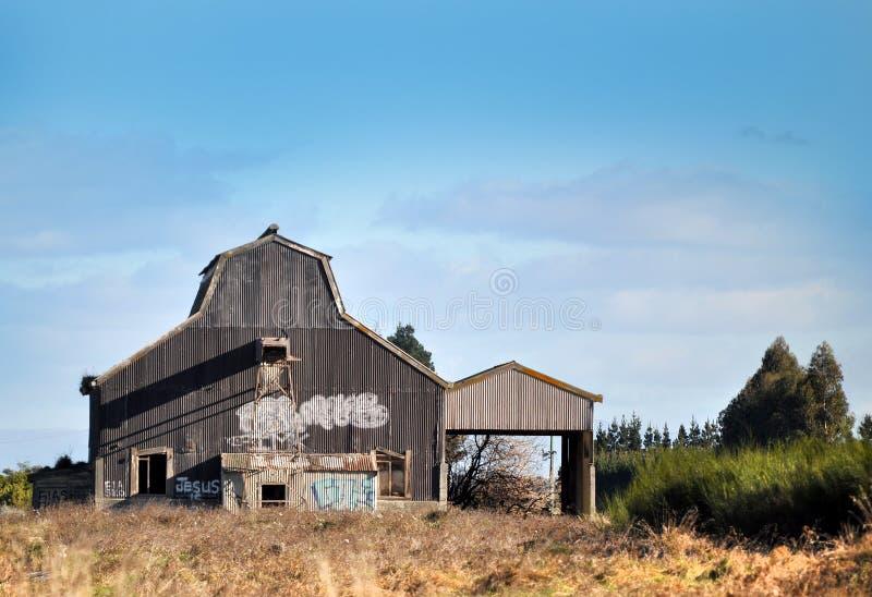Historic Grain Store, Winslow, New Zealand royalty free stock photos