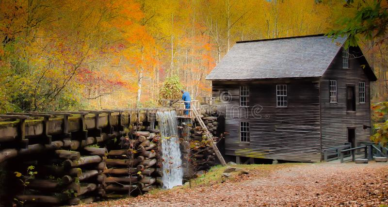Historic grist mill royalty free stock image