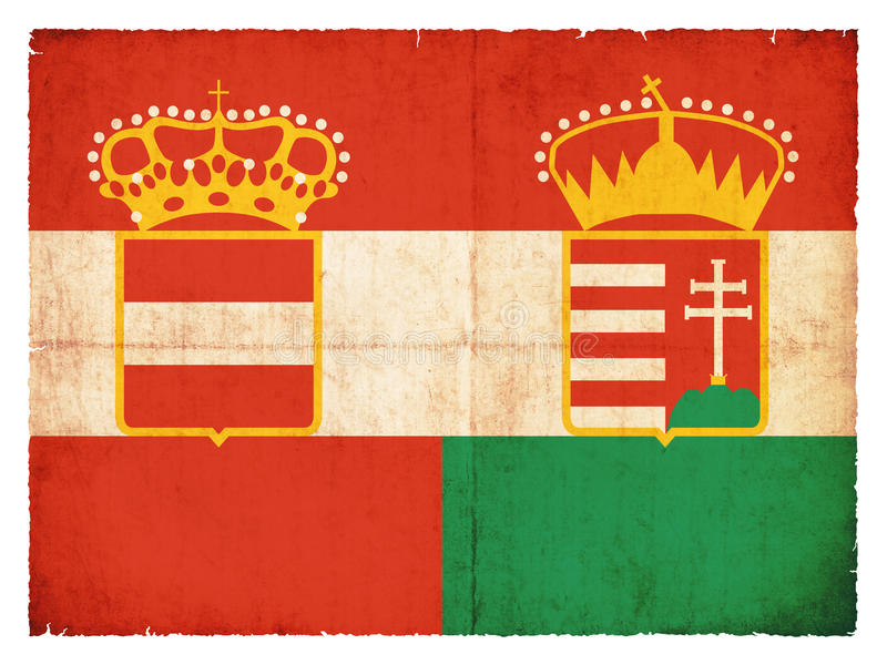 Historic grunge flag of the Austro-Hungarian Monarchy stock photos