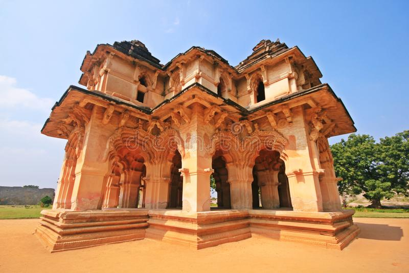 Historic Hampi lotus Mahal in India royalty free stock image