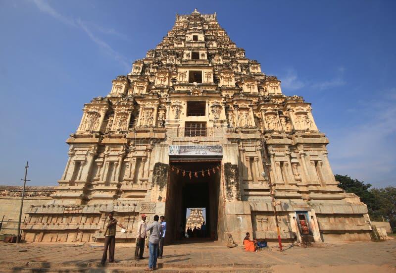 Historic Hampi Virupaksha Temple in India royalty free stock photos