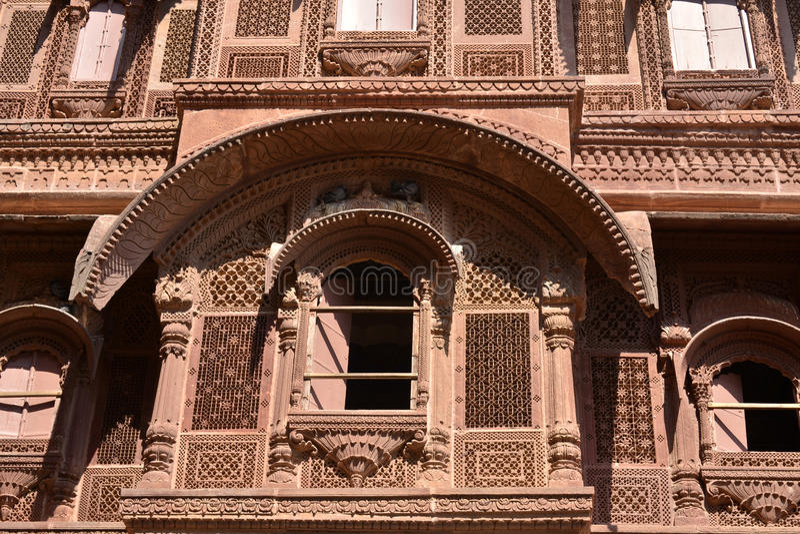 Historic Haveli facade stock image
