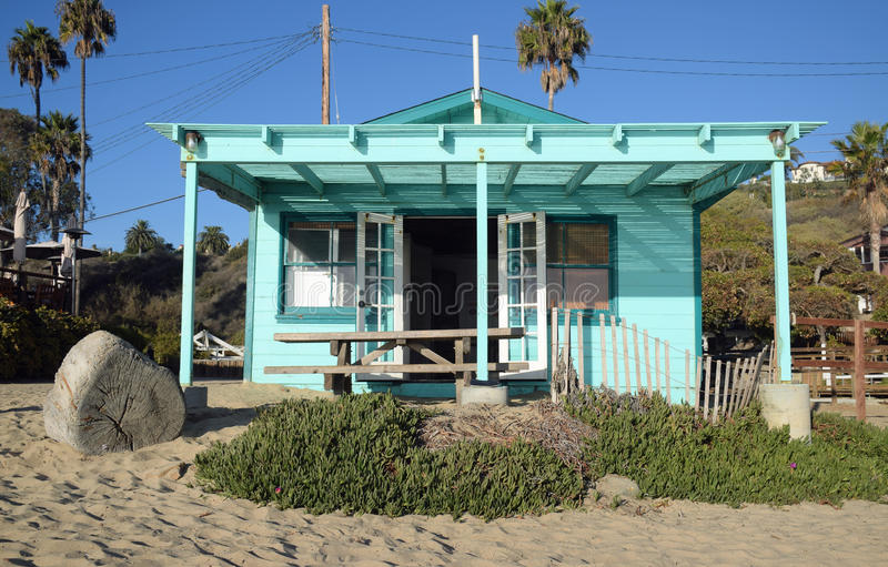 Historic home in the Crystal Cove State Park. Image shows a historic home on the beach in the Crystal Cove State Park and part of the Crystal Cove Historic stock photos