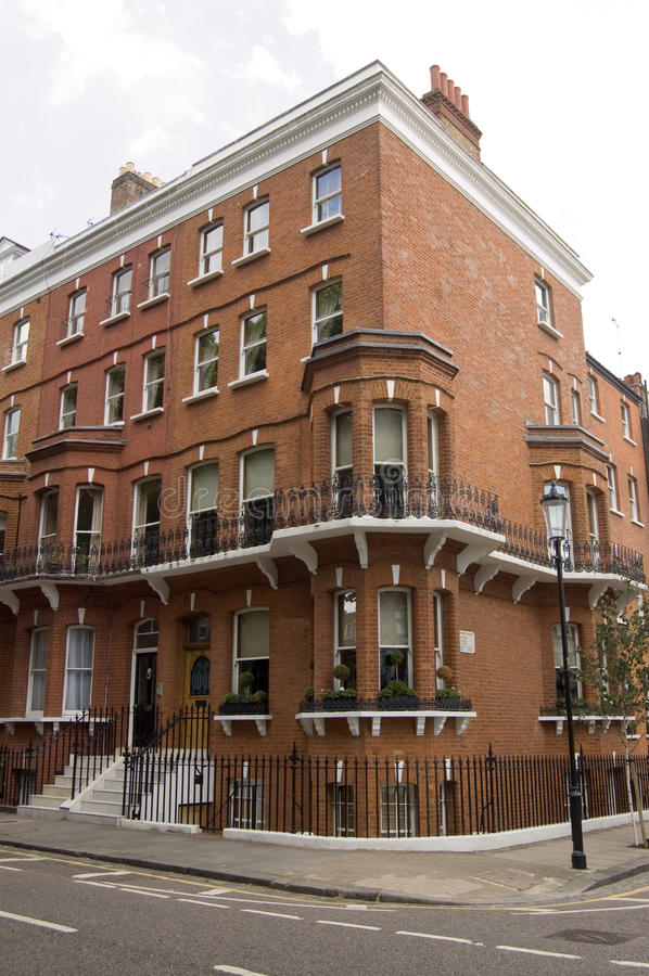 Historic Home of Mark Twain. The American author Mark Twain, Samuel Langhorne Clemens (1835 - 1910) lived in this Victorian house 1896 - 7. Chelsea, London stock image