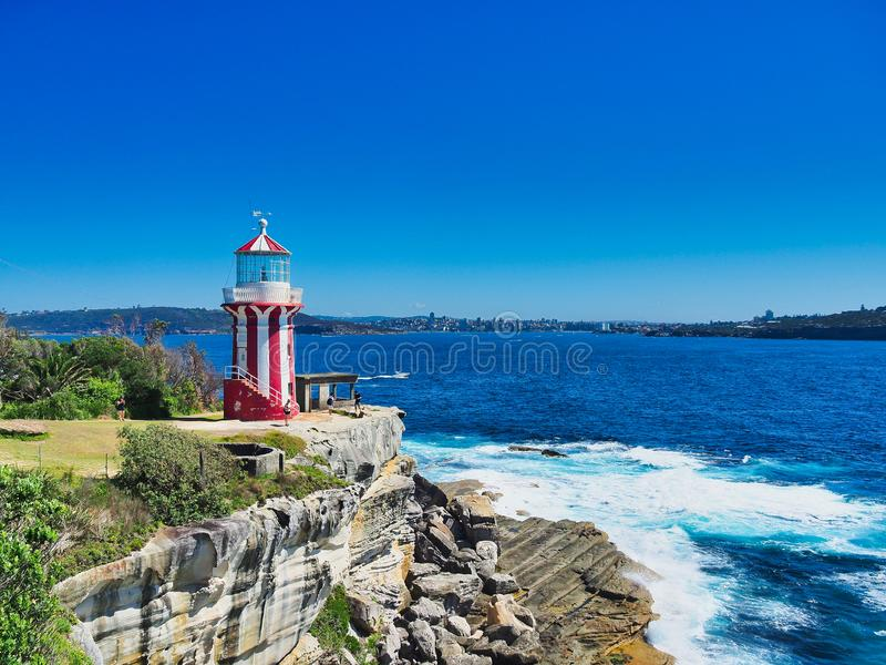 Historic Hornby Lighthouse, Sydney Harbour, Australia royalty free stock images