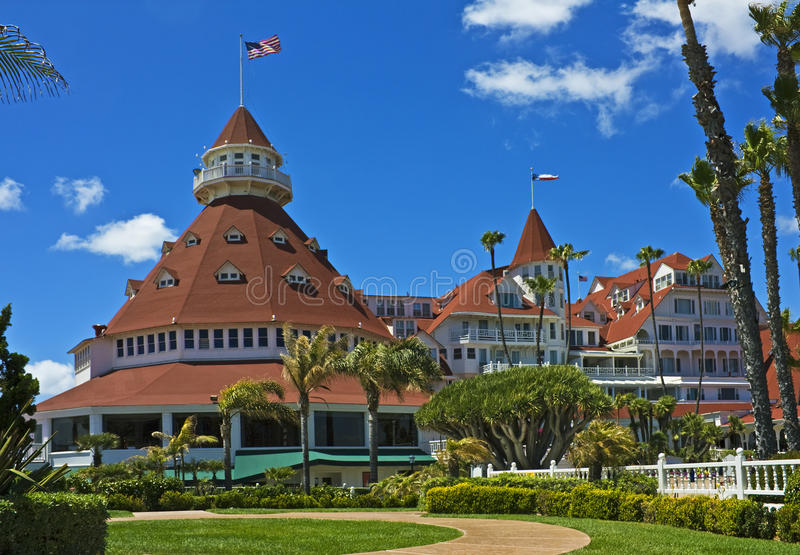 Historic Hotel Del Coronado Royalty-vrije Stock Afbeeldingen