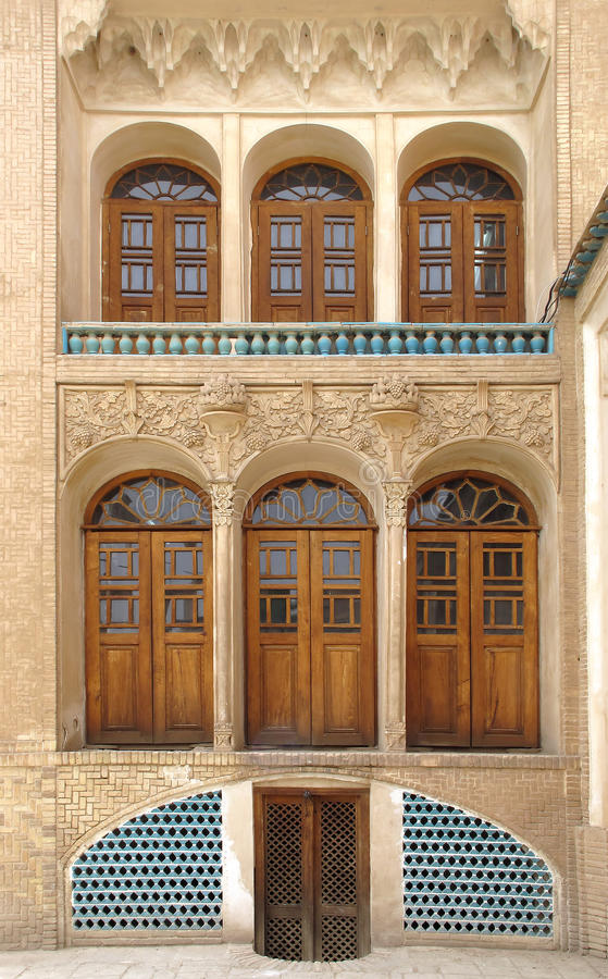 Historic house. Historic old house in Kashan, Iran royalty free stock photos