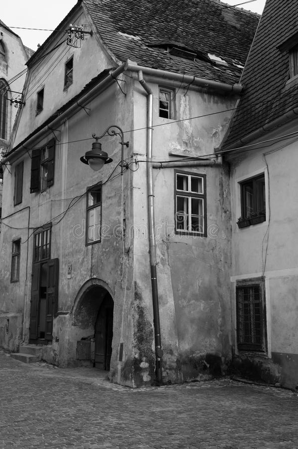 Historic house. A typical historic house in Sibiu, a historic city in Transylvania, Romania royalty free stock photography