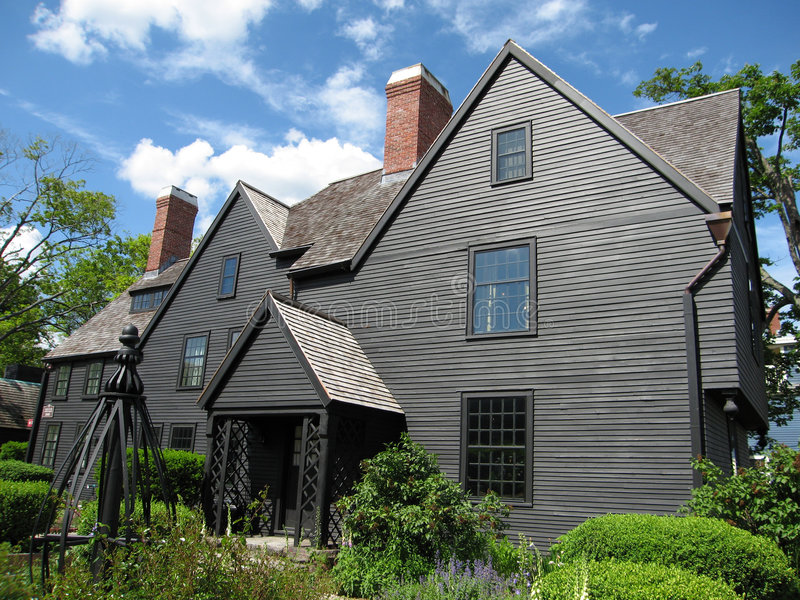 Historic House. Original image of a historic house in Salem, MA stock photography