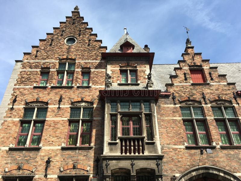 Historic House in Brugge royalty free stock photography